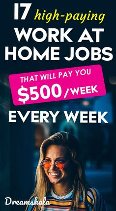 17 high-paying work at home jobs that pay weekly Cash From Home, Earn Money From Home, Make Money Blogging, Way To Make Money, Legit Work From Home, Legitimate Work From Home, Work From Home Tips, Earn Extra Money Online, Best Survey Sites
