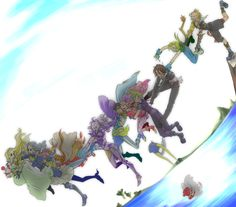 Tying the Final Fantasy worlds altogether. Final Fantasy 3, Final Fantasy Characters, Fantasy Series, Fantasy World, Fantasy Art, Square Enix Games, Happy Pictures, Nerd Love, Creative Art