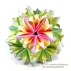 Spiky+ bird variation  Kusudama Me! - Modular origami!