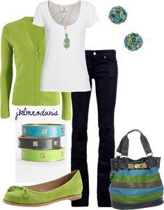 """""""Blue, Green & Navy"""" by jklmnodavis on Polyvore"""
