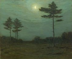 Charles Warren Eaton (1857-1937). Silence of the Night. Circa 1900-1910. Oil on Canvas.