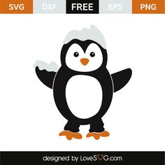 *** FREE SVG CUT FILE for Cricut, Silhouette and more *** Penguin