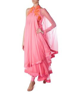 """Pink fringed dress 