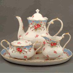 Vintage Rose Tea Set