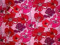 LIBERTY TANA LAWN COTTON 'Poppy Rose' Pink 36 x 46cm