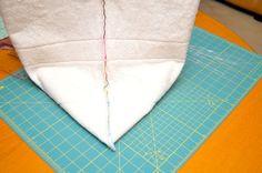 como hacer bolsos en tela paso a paso