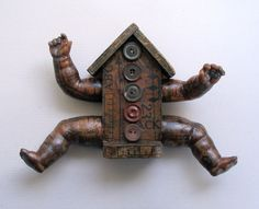 Doll House no 34  Original Mixed Media Assemblage by sushipot