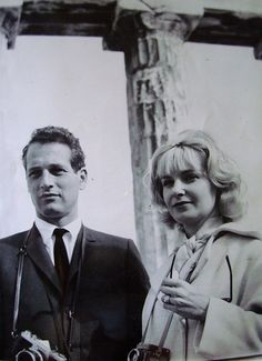 Paul Newman and Joanne Woodward visiting the Acropolis of Athens, Greece ~ 1962 Old Photos, Vintage Photos, Greece People, Parthenon Athens, Paul Newman Joanne Woodward, Most Beautiful Man, Beautiful Couple, Director, Love Affair