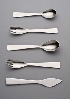 "scandinaviancollectors: ""GIO PONTI, stainless steel cutlery, 1951. / Pinterest """