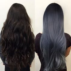 This is my official entry for the @kenraprofessional #guytanghairbattle #metallicobsession I used a mixture of 7sm & 8sm + blue booster over prelightened level 10 to create this charcoal blue/grey. Took a total of 10 hours to achieve. Good Luck to everyone who entered!!! #kenra #kenracolor