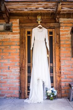 silk wedding gown made out of a WWII parachute