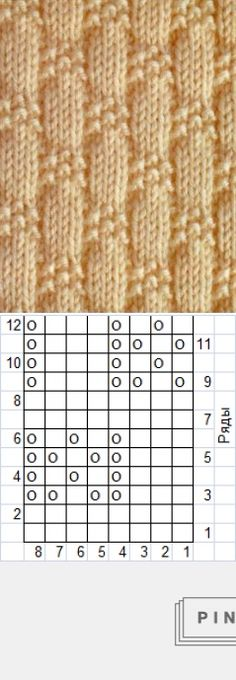 Texture knitting pattern: just knits and purls ~~