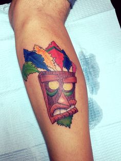 Crash bandicoot on pinterest playstation video games for Aku aku tattoo