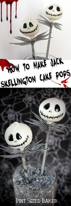 Jack Skellington Cake Pop Tutorial