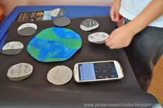 Painted Moon phases Art Project