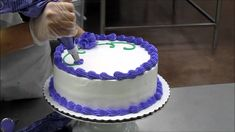 Lady Making a Birthday Cake