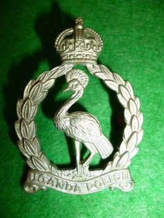 Uganda Police King's Crown Cap Badge - British Colonial