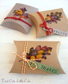Thanksgiving fall favor box DIY : could do any shape. any occasion