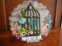 Tim Holtz Caged Bird Card