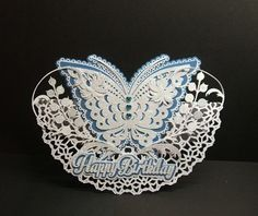 SVG File Template Butterfly Rocker card