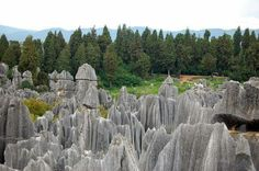 Fantastic Stone Forest......😍❤😍  The Stone Forest or Shilin is a notable set of limestone formations about 500 km2 located in Shilin Yi Autonomous County, Yunnan Province, People's Republic of China, near Shilin approximately 90 km (56 mi) from the provincial capital Kunming.