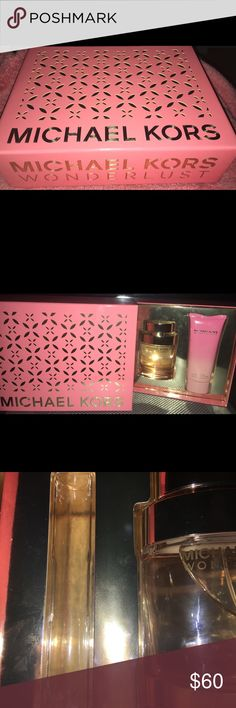 Michael kors perfume set Brand new set never used  Missing travel size spray as shown in picture  Smells great... already have one so I don't need 2 so I'm selling this one  Make an offer!!!! Michael Kors Other
