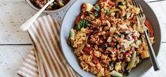 I'm cooking Veggie Paella with Green Chef https://greenchef.com/recipes/vegan-veggie-paella-with-tofu-chorizo
