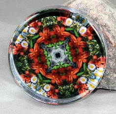 Lily & Daisy Glass Paperweight kaleidoscope by melbecreations, $22.50