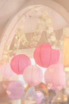 pretty pastel paper lanterns