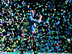 Coldplay's Chris Martin Mylo Xyloto Tour.  Vancouver 2012.  Incredible concert.  Love how engaging Chris Martin is!