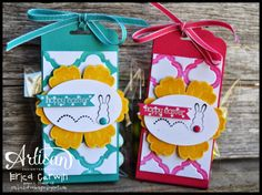 Pink Buckaroo Designs: Tag Topper Punch Treat Holders
