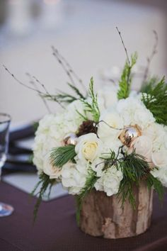 15 Ideas Diy Wedding Decorations Winter Centerpieces For 2019 Christmas Wedding Centerpieces, Winter Centerpieces, Winter Wedding Decorations, Winter Wedding Flowers, Christmas Arrangements, Floral Arrangements, Small Intimate Wedding, Intimate Weddings, Small Weddings