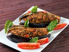Aubergines farcies végétariennes #vegetarien