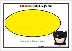 Superhero playdough mats (SB2258) - SparkleBox
