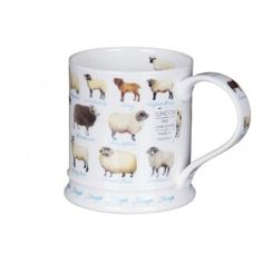 Farm Life Sheep Iona Shape Mug - Browse All - Dunoon - Shop by Brand | TemptationGifts.com