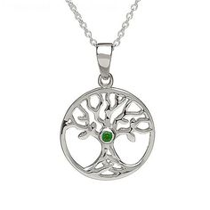 Tree of Life Emerald Necklace (C-4591-1)
