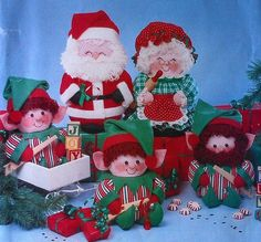 Santa Mrs Claus Elves Decor Sewing Pattern
