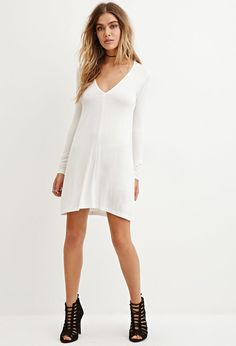 V-Neck Mini Dress | Forever 21 - 2000181798
