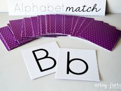 The Free Printable Alphabet Match Game is perfect for toddlers and preschoolers learning their letters!