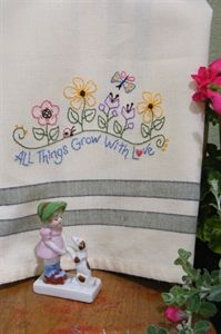 "Free pattern from Bird Brain Designs - ""All Things Grow With Love""."