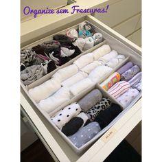 Organize sem Frescuras   Rafaela Oliveira » Arquivos » Como dobrar as meias e ganhar mais espaço na gaveta