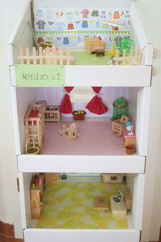 Kifli és levendula: játékház - Kartonállvány új szerepben