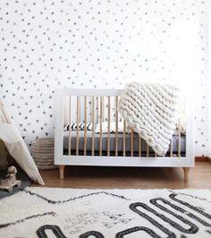 Black and White Nursery - Inspiration by Color Monochrome Nursery, White Nursery, Nursery Neutral, Polka Dot Nursery, Baby Bedroom, Nursery Room, Girl Nursery, Baby Nursery Ideas For Boy, Themed Nursery