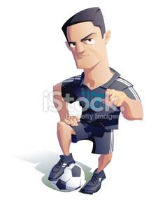 soccer player Royalty Free Stock Vector Art Illustration