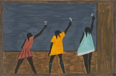 Jacob Lawrence. The Migration Series. 1940-41. Panel 58