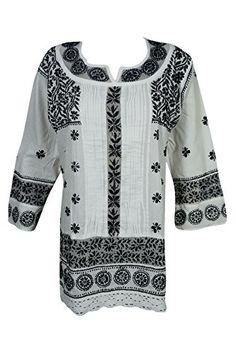Mogul Womens Boho Tunic Dress Cotton Black Chikankari Emb... https://www.amazon.com/dp/B078K3GWH6/ref=cm_sw_r_pi_dp_U_x_z7HpAbGAMYFPN