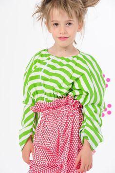 BOdeBO kids fashion SUMMER 2014 TEDDI BLOUSON Lined mini blouson, slide fastener, elastized waist.Pants with dots