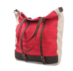 Leather Handle Women Shoulder bagwomen canvas by FashionZone2013, $43.90