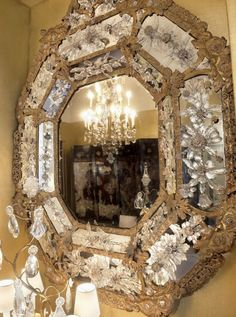 found in coco chanel's paris apartment ~ a little on the ornate side of decor but still, glamorous