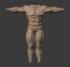 Anatomy/Topology Study - Polycount Forum
